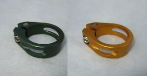 NEW - CNC Aluminum Pivot Seat Clamp, 34.9mm / Gold or Green
