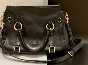 Dooney & Bourke Black Leather Handbag Satchel
