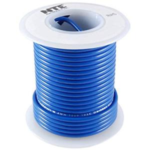 NTE WH20-06-25 Hook Up Wire 300V Stranded Type 20 Gauge 25 FT BLUE