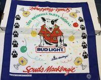 SPUDS MACKENZIE Bud Light BANDANA SCARF Handkerchief NEW MINT 1980's Vintage