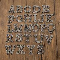 Patches Aufnäher Nähen Strass Applikation 26 A-Z Buchstaben Stickerei Kleidung