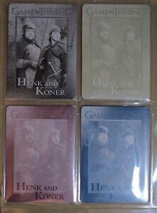 GAME OF THRONES SEASON 7 TRADING CARDS ULTRA RARE SET 4 PRINTERS PLATES CARD #73