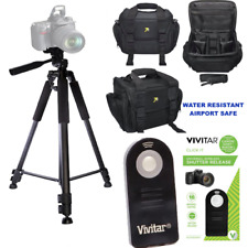 "LARGE CAMERA BAG CASE + 60"" PRO TRIPOD + REMOTE FOR CANON EOS REBEL T5 T6 80D T7"