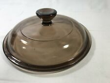Pyrex Glass Brown lid 6""