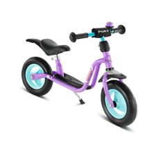 Puky LRM Plus Balance Bike/Walkbike Purple & Blue with Stand, Mudguard & Bell