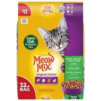 Meow Mix Original Choice Dry Cat Food, Heart Health & Oral Care Formula 32 lbs