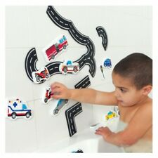 Bath Foam Traffic Vehicle (Tub Fun)- Pretend Water Play Float Toy, car bus road
