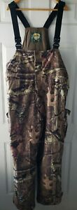 Cabelas Dry Plus Hunting Bibs Revolutuon Fleece Camo XL Overalls Camouflage