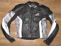 """>>> """" IXS """" Herren- Motorrad - Lederjacke / Biker- Jacke in schwarz ca. Gr. 44"""