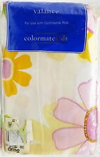 Girls Retro Hippy Floral Daisy Valance Glittered Embroidered Accents 84x15