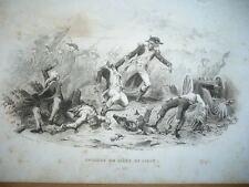 EPISODE DU SIEGE DE LILLE 1792  GRAVURE XIX ème