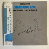KEITH JARRETT TRIO STANDARDS LIVE ECM 25MJ 3536 Japan OBI VINYL LP