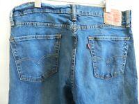 Levis Mens 511 Blue Jeans Size 36 X 31