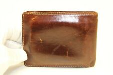 Coach Mens Vintage Distressed Mahogany Leather Classic Billfold Bifold Wallet