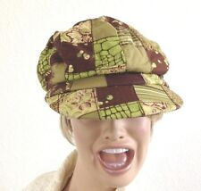 Green Print Stretch Ball Cap Hat - One Size Fits Most