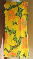 Vintage 70's Park East Shift Dress By Swirl Crepe Fabric Floral Mod Sz 14 Lg