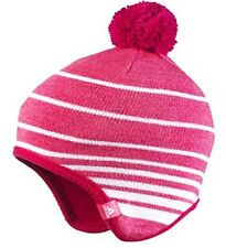 ADIDAS kids Stripy BEANIE HATS & SCARVES/TUBES Pink/Blue CLIMAWARM New