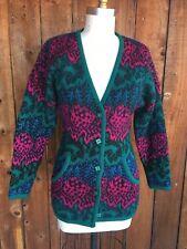 VTG 70s Missoni Wool Sweater Cardigan Boho Fitted Floral Stripe S Avant Garde