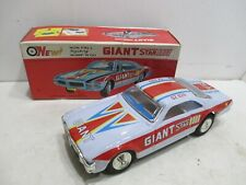 GIANT STAR Race Car Battery Operated Mint In Box---tested works good