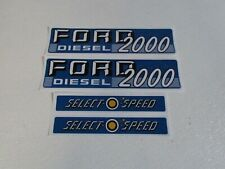 Ford 2000 tractor hood decal set selecto speed 1115-1574