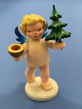 Erzgebirge Steinbach Angel with Tree Germany Christmas Figurine 1950s