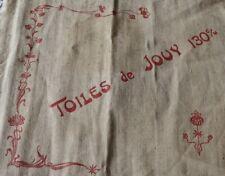 "Rare Toile de Jouy Original ""Avis"" Antique c1900 Advertising Linen Toile~16""X19"""