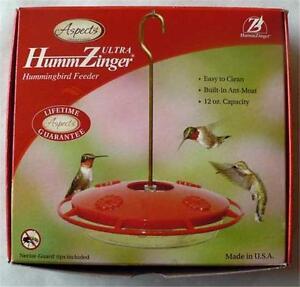 ASPECTS #367 HummZinger ULTRA, 12 oz HUMMINGBIRD FEEDER, FREE SHIPPING        dm