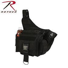 Lightweight MOLLE Advanced Tactical Travel Shoulder Bag Bug Out Pack Black