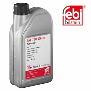 febi 21829 Gear Oil 1Ltr Oil SAE 75W GL-4 fits VAG For Ford + more