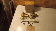 Antique National Brass Screen Door Hinges Handle Hooks- NOS
