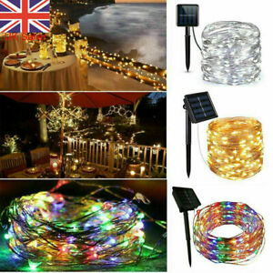 100/200/300 LED Solar Power String Fairy Lights Copper Wire Outdoor Garden Party