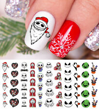 Nightmare Before Christmas Halloween Nail Art Decals Set #1.- Salon Quality!