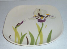 """Red Wing Pottery IRIS Salad Plate Vtg 1940s Hand Painted 7.25"""""""