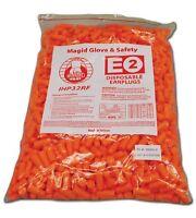 Polyurethane Foam E2 Disposable Uncorded Fluorescent Orange Case of 500