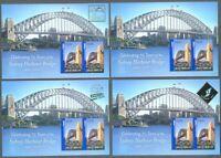 Australia-Sydney Harbour Bridge-Complete 4 diff  Min sheets mnh 2007