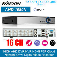 16CH 1080P AHD/ONVIF IP/Analog/TVI/CVI/DVR CCTV Video Recorder Kit P2P APP Ctrl