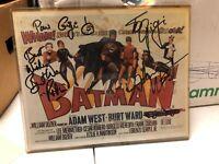 1966 Batman TV Cast Villains Adam West Burt Ward Signed Image