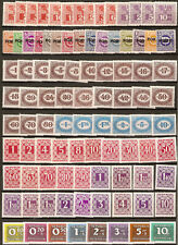 1945/89; Postage-Due-Stamps - five complete sets; MNH