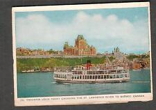 Canada 1953 folder post card ferry boat SS Jolliet crossing St Lawrence River
