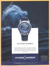 ULYSSE NARDIN Freak Blue Cruiser watch  Print Ad