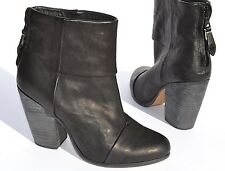Rag & Bone Newbury Black Leather Ankle Bootie Boots Size 38 / 8