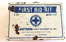 First Aid Kit, Eastern Safety Equipment Co., Inc E-50 Code 534 - Vintage