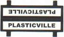 PLASTICVILLE LOADING PLATFORM SIGN Plasticville S Gauge Scale Buildings