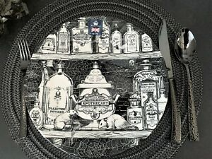 Halloween Apothecary Plates With Spooky Eyeballs Rats Mice by Royal Stafford