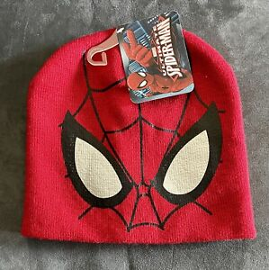 Marvel Ultimate Spider-Man Kid Hat Knit Cap Spiderman Beanie NWT