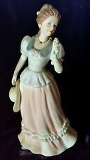 "Home Interiors Homco Lady Camille Porcelain 8"" Figurine #1452 B2"