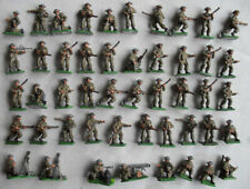 Forty-Eight Painted 1/72 26mm WW2 British Infantry. Valiant Plastic Soldiers.