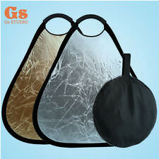 """30cm/ 12"""" 2-in-1 Gold & Silver Reflector Light Collapsible Portable Reflector"""