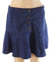 HYFVE Womens Skirt Classic Navy Blue Size Large L A-Line Faux Suede $42- 214