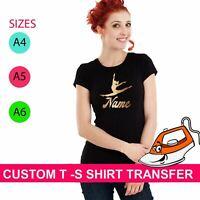 FERRO su T shirt trasferimento personalizzata Minnie BAT il tuo nome Sticker Vinyl Party